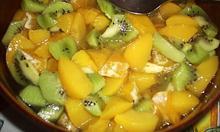 pokrojone owoce bez bananów