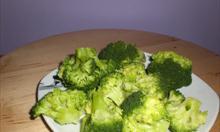 Brokuły gotowane,rozdrobnione. Fot. mojego autorstwa.