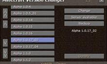Okno po włączeniu Minecraft Version Chengler