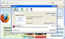 Instalacja dodatku Prism do przeglądarki Firefox.